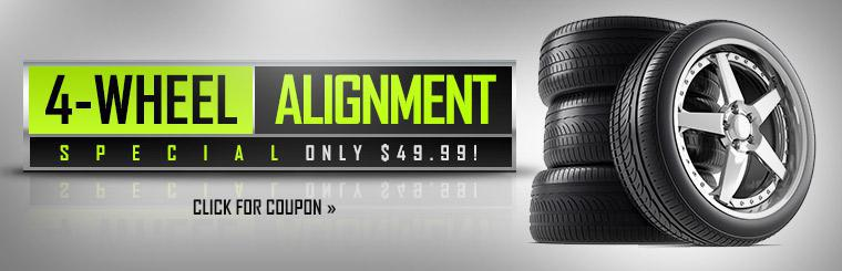 4-Wheel Alignment Special: Only $49.99