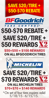 Michelin and BFGoodrich-rebates