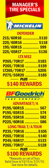BFGoodrich Tire Sale