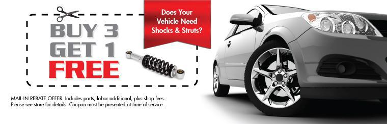 Monroe Shocks & Struts: Buy 3, Get 1 Free