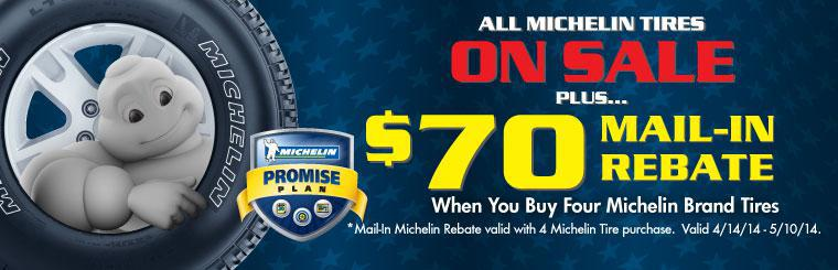 $70 Michelin Tire Rebate
