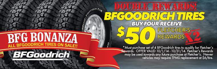 All BFGoodrich Tires on Sale $20 + DOUBLE REWARDS