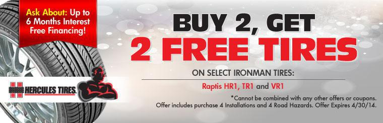 Ironman Buy 2, Get 2 Free Tire Sale