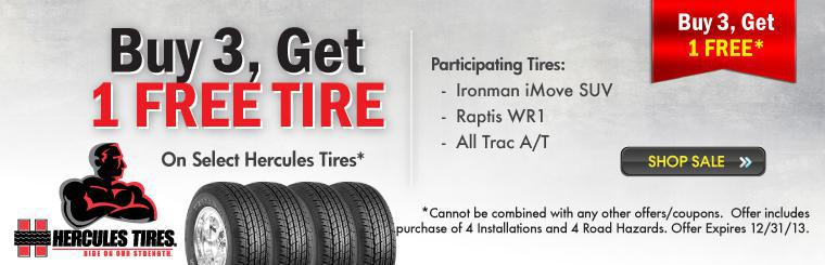 Buy 3, Get 1 Free Tire Sale