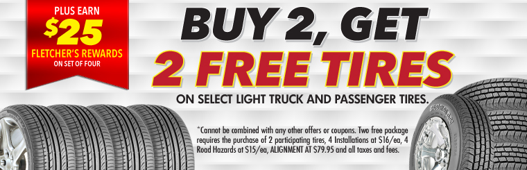 Buy 2 Get 2 Free Tire Sale