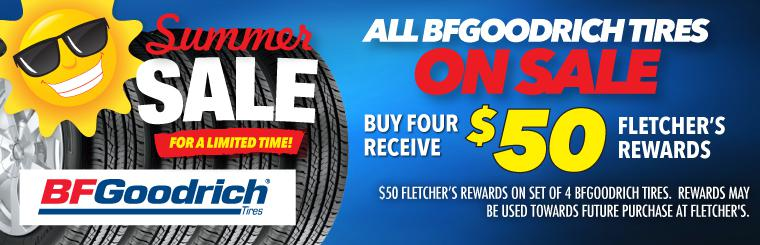 BFGoodrich Tire Sale + $50 Fletcher's Rewards