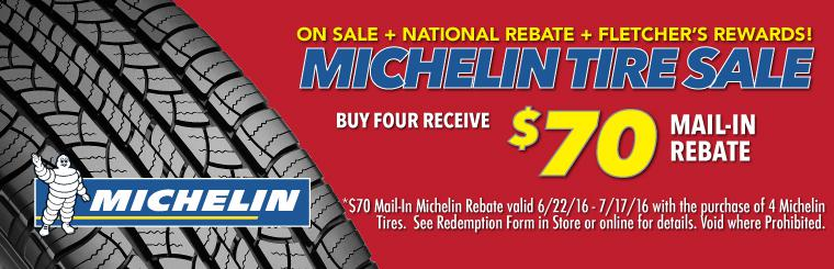 Michelin Tire Sale + $70 Michelin Rebate