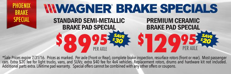 Free Brake Inspection + $89.95 Wagner Brake Coupon