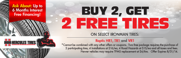 Buy 2, Get 2 Free Tire Sale