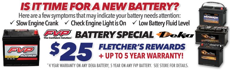 FVP and Deka Battery Sale