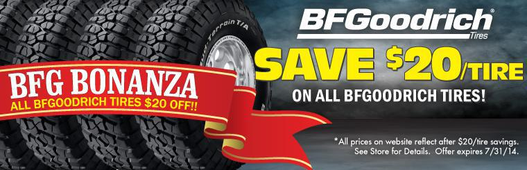 All BFGoodrich Tires on Sale $20