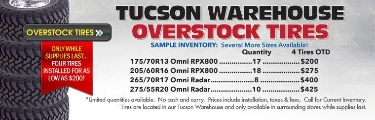 Tucson Warehouse Overstock Tire Sale