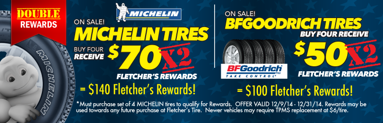 Michelin and BFGoodrich Tire Rebate Sale