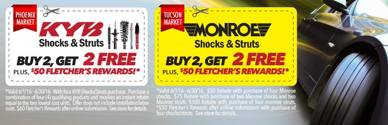 KYB Shocks and Struts Buy 2, Get 2 Free