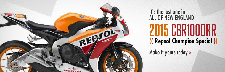2015 Honda CBR1000RR - Repsol Champion Special: It's the last one in all of New England! Make it yours today.