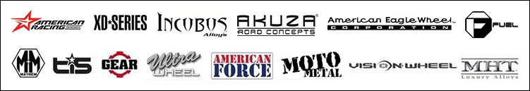 We proudly offer products from: American Racing, XD-Series, Incubus, Akuza, American Eagle Wheel, Fuel, Mayhem, TIS, Gear, Ultra, American Force and Moto metal.