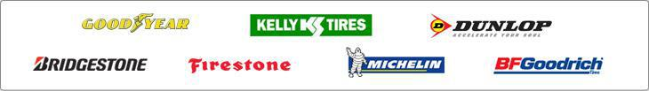 We proudly offer products from Goodyear, Kelly, Dunlop, Bridgestone, Firestone, Michelin®, and BFGoodrich®.