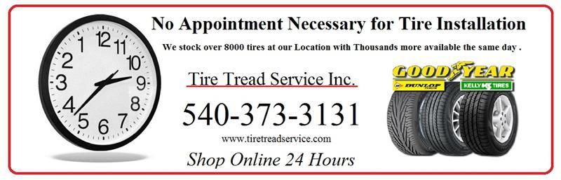 No appointment necessary for tire installation. We stock over 8000 tires at our location with thousands more available the same day. Click here to browse.