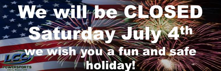 We will be closed Saturday July 4th