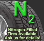 Nitrogen-filled tires are available; ask us for details!