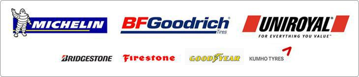 Brands we carry include Michelin®, BFGoodrich®, Uniroyal®, Bridgestone, Firestone, Goodyear, and Kumho.