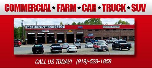 Commercial, Farm, Car, Truck, SUV. Call us today! (919)-528-1858.