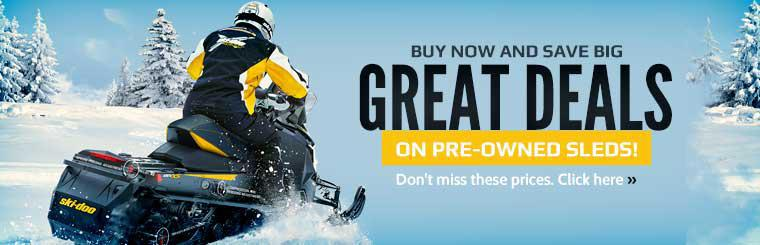 We have great deals on pre-owned sleds! Click here to contact us for details.