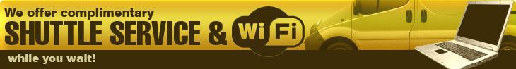 We offer complimentary shuttle service & WiFi while you wait!