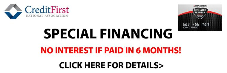 CFNA Special Financing