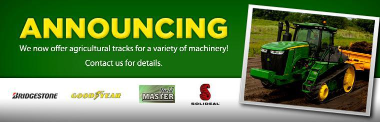 We are happy to announce we now offer agricultural tracks for a variety of machinery! Click here to contact us for details.