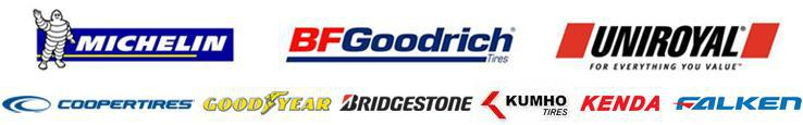 We proudly carry products from Michelin® , BFGoodrich® , Uniroyal® , Cooper, Goodyear, Bridgestone, Kumho, Kenda, and Falken.