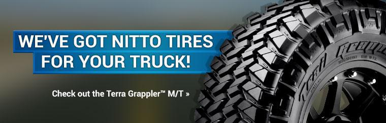 We've got Nitto Tires for your truck! Click here to check out the Terra Grappler™ M/T.
