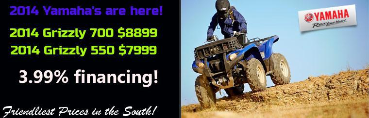 Click here to view the 2014 Yamaha ATVs.