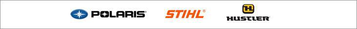 We carry products from Polaris, STIHL, and Hustler.