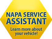 Napa Service Assistant. Learn more about your vehicle.