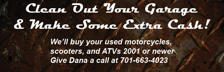 We Buy Used ATVs, Motorcycles, and Scooters