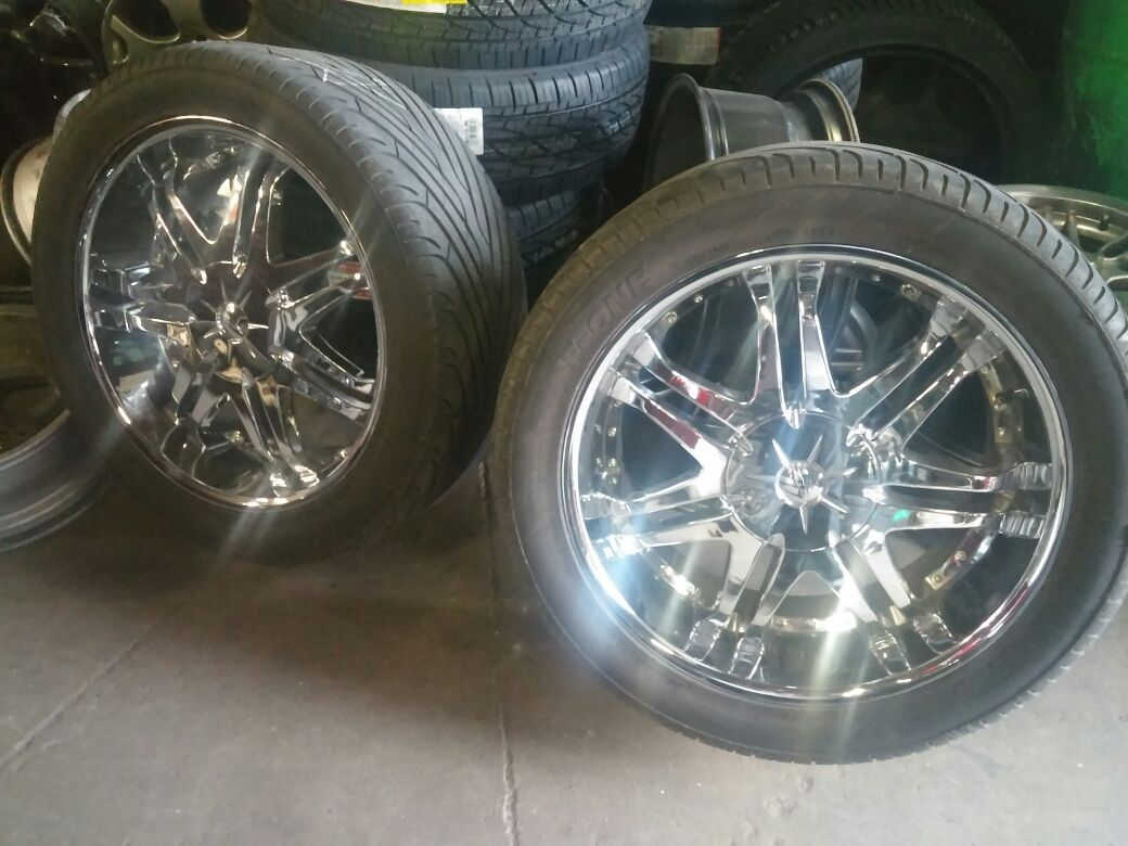 22 Inch Tires >> Dtp 22 Inch Chrome Bolt Patter 6 Universal
