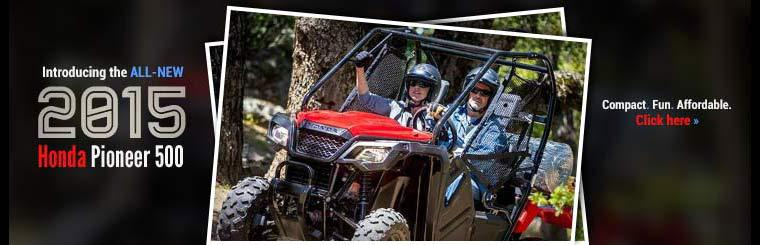 Introducing the all-new 2015 Honda Pioneer 500. Click here for details.