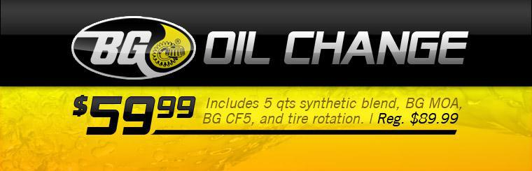 Click here to get a $59.99 BG oil change with this coupon.