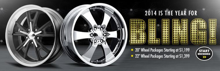 We have 20'' wheel packages starting at $1,199 and 22'' wheel packages starting at $1,399! Click here to browse wheels online.