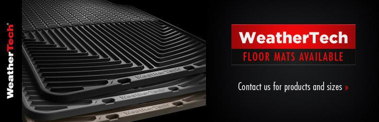 WeatherTech floor mats are available! Contact us for products and sizes.