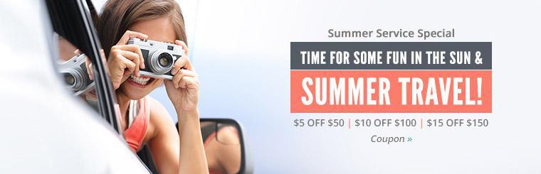 Summer Service Special: Click here for details.
