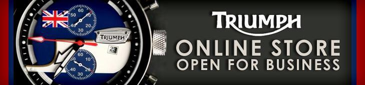 Triumph online store open for business.