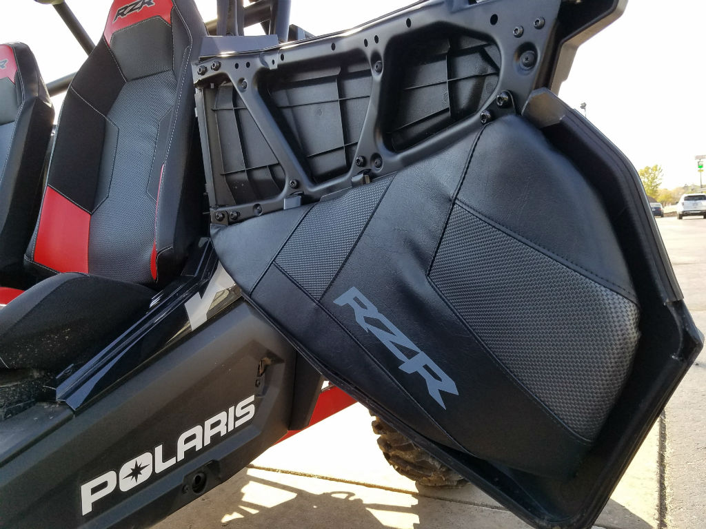 Lower Doors With Leather Liner - 2018 Polaris RZR & 2018 Polaris Industries RZR XP Turbo EPS DYNAMIX Edition - Black ...