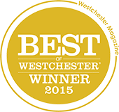 Best of Westchester Winner 2015.