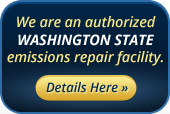 We are an authorized Washington state emissions repair facility. Details Here »