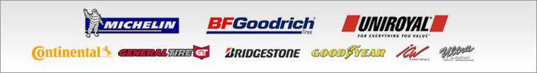 We are proud to feature products from Michelin®, BFGoodrich®, Uniroyal®, Continental, General, Bridgestone, Goodyear, ICW Racing and Ultra Wheels.