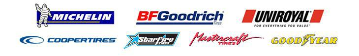 We carry products from Michelin®, BFGoodrich®, Uniroyal®, Cooper, Starfire, and Mastercraft.