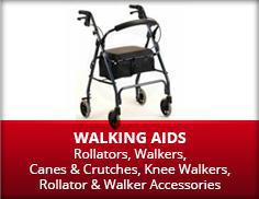 Walking Aids: Rollators, Walkers, Canes and Crutches, Knee Walkers, Rollators, and Walker Accessories