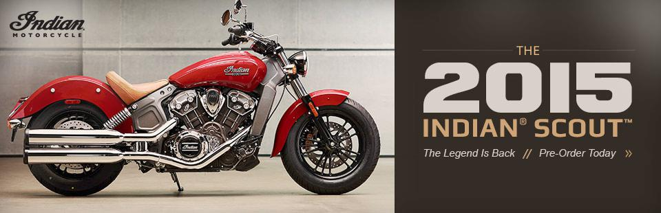 2015 Indian® Scout™: Click here to view the model.